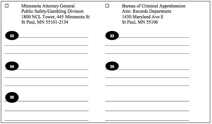 Minnesota Expungement Affidavit of Service