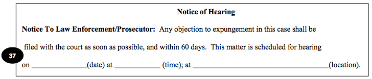 Minnesota Expungement: Notice of Hearing