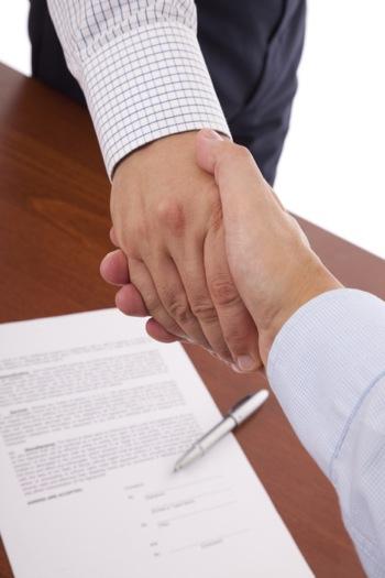 Handshake Over an Independent Contractor Agreement