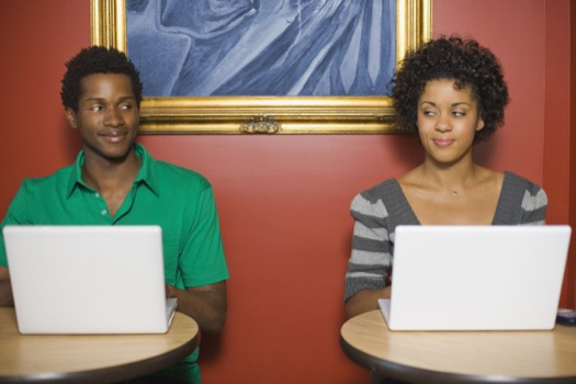 Man and Woman on Computer