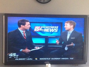 Attorney Aaron Hall and with KSTP TV's Chris Egert discussing Jesse Ventura v. Chris Kyle defamation case