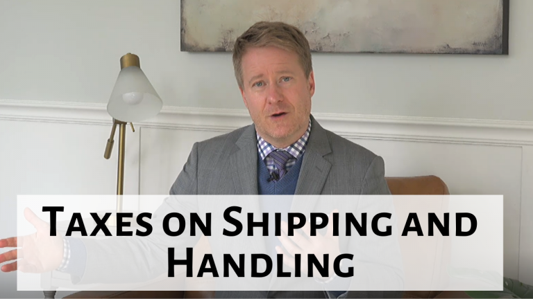 Taxes on Shipping and Handling