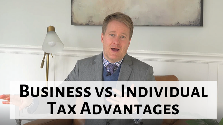What Are the Tax Advantages of Having a Business vs. Running an Operation as an Individual?